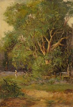 The Forest Clearing by Lorenzo Delleani, 10x7 Oil on Canvas