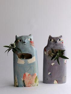 colorful illustrated ceramics by Elise Lefebvre