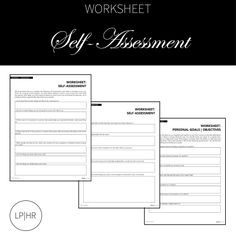 Self Assessment for Your Career Search Career Search, Job Search, Self Assessment, Personal Goals, Worksheets, Learning, Life, Self Esteem, Literacy Centers