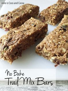 No Bake Trail Mix Bars #RoadTripOil #ad