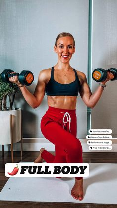 Full Body Workouts, Body Workout At Home, Fitness Workout For Women, At Home Workout Plan, Leg And Glute Workout, Gym Workout Tips, Dumbbell Workout, Workout Videos, Fitness Inspiration