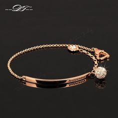 Bracelet OL Style CZ Diamond Ball Fashion Party Charm Bracelets & Bangles Rose Gold Plated Crystal Jewelry For Women pulseras Jewelry Bracelets Cute Jewelry, Jewelry Gifts, Vintage Jewelry, Women Jewelry, Stylish Jewelry, Charm Jewelry, Jewelry Ideas, Jewelry Shop, Jewelry Accessories