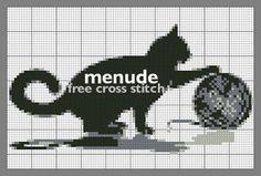 cat free pattern | menude cross stitch