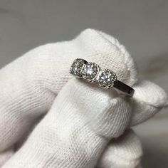 We set five carat diamonds into this bespoke platinum mount. Wanting a vintage vibe we used claws and a mill grain finish. Bespoke Jewellery, Vintage Vibes, Claws, Vintage Fashion, Diamonds, Wedding Rings, Engagement Rings, Unique, Projects