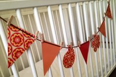 Funky Modern & Retro Design BUNTING 7 x shapes/flags made from funky paper and laminated, on ribbon line with mini pegs designs to choose from, see other listings) Approximately 3 metres in total length Unique & handmande with love Paper Bunting, Bunting Flags, Decorative Paper, Modern Retro, Paper Decorations, Retro Design, Banners, Garland, Shapes