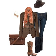 true grit chic, created by sherdan on Polyvore
