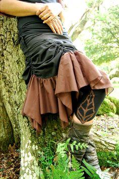 Leaf Leggings, Funky Goddess Clothing, Tribal Clothing, Fairy Clothing, Festival Clothing