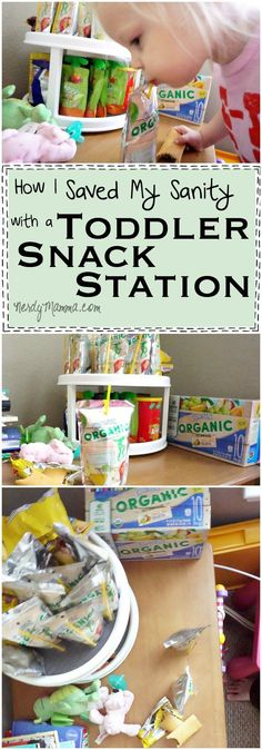 I've never thought of setting up a Toddler Snack Station--such a great idea! #sponsored #CapriSunOrganic #CG