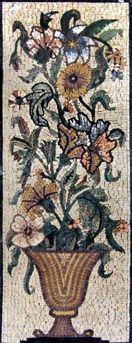"16x44"" Flower Vase Marble Mosaic Wall Art Tile by mozaico. $299.00. Mosaics have endless uses and infinite possibilities! They can be used indoors or outdoors, be part of your kitchen, decorate your bathroom and the bottom of your pools, cover walls and ceilings, or serve as frames for mirrors and paintings."