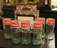 Upcycled Coke Bottle Glasses -- Set of 6