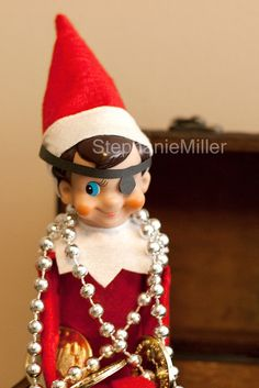 THE ELF ON THE SHELF~Pirate Elf #Elf #On #The #Shelf #Christmas #Ideas