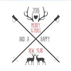 #kerst #kaart #kerstkaart #xmas #merry #christmas #fuif #happy #new #year #fijne #feestdagen #clean #wit #kwaard #zwaarden #hartje #rendier #rendieren #rood #zwart #gewei #stoer #simpel #hip