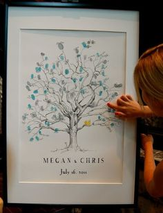 replicate family tree in drawing to use as guest book?