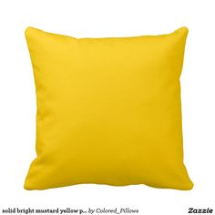 solid bright mustard yellow pillow