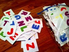 Quiet Time Activities: Simple DIY Crafts, including a make your own scrabble game for kids.