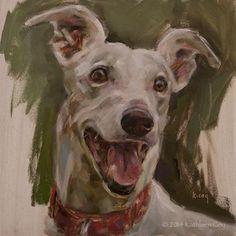 """Day 3 - Greyhound"" - Original Fine Art for Sale - © Kathleen Coy"