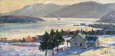 Vue sur St-Joseph-de-la-Rive - Raynald Leclerc - Iris art gallery, Baie-Saint-Paul - Charlevoix