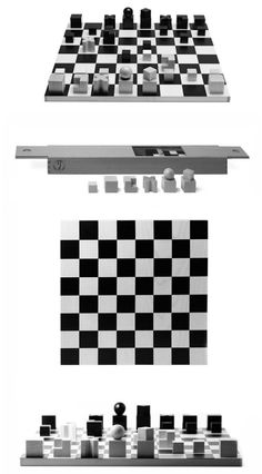 Could be DIY for backyard set. The Bauhaus was known for its minimalist designs, and the Naef Bauhaus Chess Set is no exception.