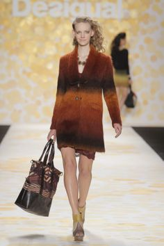We love this gradient coat and this maxi bag! #NYFW