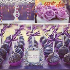 orange-and-purple-wedding-cake-pops I love the frame! Lila Cake Pops, Purple Cake Pops, Red Velvet Cake Pops, Red Cake, Dark Purple Wedding, Neutral Wedding Colors, Wedding Orange, Lilac Wedding, Wedding Desserts