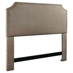 Luna Nail Trim Upholstered Headboard in Pebble