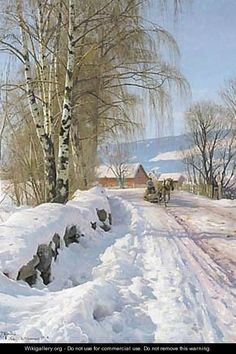 From Skogli, Lillehammer (1918) by Peder Mørk Mønsted (b. 10 December 1859; Balle Mølle, Denmark – d. 20 June 1941; Fredensborg, Denmark) Oil on canvas http://www.artvalue.com/auctionresult--monsted-peder-mork-1859-1941-d-from-skogli-lillehammer-950224.htm https://en.wikipedia.org/wiki/Peder_M%C3%B8rk_M%C3%B8nsted