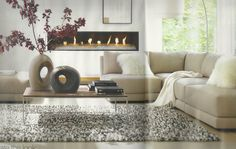Crate and Barrel Living Room <3 Love this living room too! @Sherry Slimmer Centre