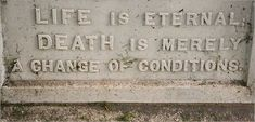 The soul is bone - Epitaph on a headstone in Laurel Hill Cemetery,...