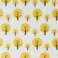 Dotty yellow tapetti