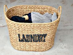 DIY Laundry Basket Tutorial at the36thavenue.com ...Pin it now and make it later!