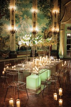 A very romantic setting in a stunning room