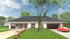 Berenika - murowana – ceramika - zdjęcie 3 4 Bedroom House Plans, Bungalow House Plans, Family House Plans, Bungalow House Design, Design Your Dream House, Dream House Plans, Modern House Plans, Modern House Design, Village House Design