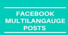facebook multi language post