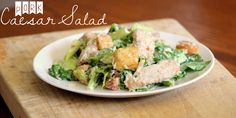 We loved this Pork Caesar Salad- it's so simple! Delicious too :-) #AllstarsSmithfield #ad @allrecipes