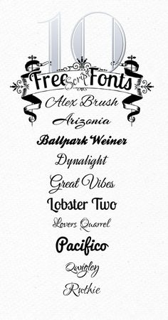 10 Free Script Fonts from Font Squirrel