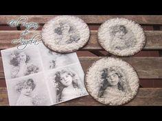 Manualidades- Posavasos con CD reciclados con cascara de huevo y decoupage - YouTube