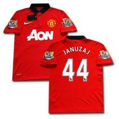 13-14 Man Utd Home Soccer Jersey Football Shirt Januzaj 44