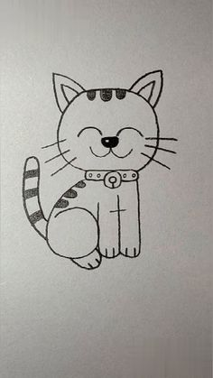 Art Sketchbook Ideas Easy For Kids Art Drawings Sketches Simple, Easy Drawings For Kids, Pencil Art Drawings, Animal Drawings, Drawing Ideas Kids, Simple Cartoon Drawings, Cute Drawings Of Animals, Easy Drawings For Beginners, Drawing Tutorials For Kids