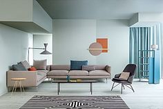 [New] The 10 Best Home Decor (with Pictures) - The contemporary living room is decorated with oversized silhouettes and a crisp aesthetic Zanotta sofa Flamingo - design Damian Williamson ___________ # Sofa Design, Furniture Design, Interior Styling, Interior Decorating, Interior Design, Room Interior, Home Trends, Apartment Design, Sectional Sofa