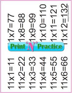 Fun multiplication worksheets to print or file. PDF worksheets, flash cards, charts, and videos. Free Multiplication Worksheets, Teaching Multiplication, Printable Worksheets, Teaching Math, Math For Kids, Fun Math, Math Flash Cards, Math Drills, Math Enrichment