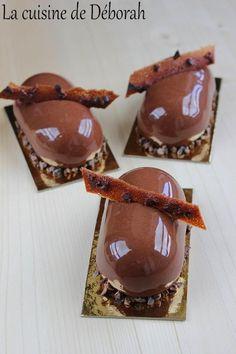 Entremets chocolat vanille   Cuisine de Deborah