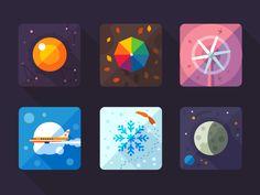Dribbble - Weather flat icon by Oleg Beresnev Flat Design Icons, Icon Design, Flat Icons, Flat Ui, Ux Design, Coffee Icon, Game Logo, Game Ui, Mobile Icon