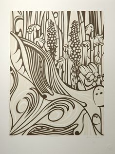 imagination - 2000 by Susan Point - Woodcut
