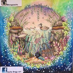 Maravilhoso! Como sempre!!!! @Regrann from @bragasacha - @johannabasford #painting #coloringbook #livrodecolorir #enchantedforest #secretgarden #lostocean #florestaencantada #jardimsecreto #oceanoperdido #colorpencil #crayola #lapisdecor #lake #lagoaazul #posca #uniballsigno #gellpen #coloriagepouradultes #colorido #artecomoterapia #coloring #Regrann