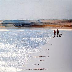 Beach Watercolor, Watercolor Landscape, Landscape Art, Landscape Paintings, Watercolor Paintings, Watercolour, Shimmer Lights, Art Walk, Beach Wall Art
