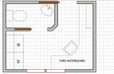 bathroom laundry room layout with private water closet