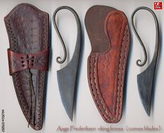 AAge Frederiksen Viking knives. I wonder if Master Waldryk would let me make one of these....