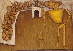 John Perceval and his angels, by John Brack, 1962. Oil on canvas.