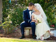 Bride and Groom: Photo by Meg Baisden Photography via Heather Renee Celebrations