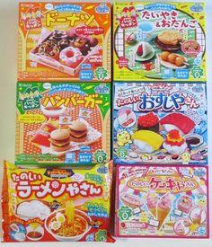 6 Pcs Kracie Japanese DIY Candy Kits Popin Cookin Happy Kitchen Sweets Making #Kracie